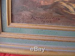 ANCIEN TABLEAU HST MALGACHE MADAGASCAR RAMBININTSOA JEAN DATEE 1942