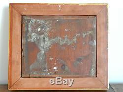 ANCIEN TABLEAU HUILE sur PANNEAU Impressionniste signé PAUL FLAUBERT 1928-1994