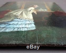 Adèle d'Affry (Suisse, 1836-1879) Attribution Ancien Tableau Peinture Huile