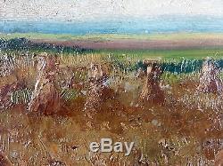 Adolphe Poot (Français, 1924-2006) Ancien Tableau Peinture Huile Original