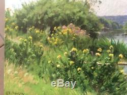Adrien Sauzay Tableau Ancien Huile Sur Toile Barbizon Musee D'orsay