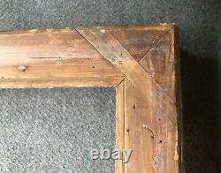 Ancien Cadre Bois Stuc Doré Montage à clé 80x69cm 19 eme XIX Huile Tableau Toile