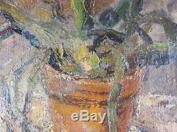 Ancien Tableau Attribué à Tamara de Lempicka (1898-1980) Peinture Huile Painting