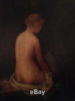 Ancien Tableau Barbizon XIXe Femme Nue Huile Toile Dans le gout NARCISSE DIAZ