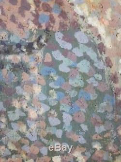 Ancien Tableau Canal à Venise Peinture Huile Toile Antique Oil Painting