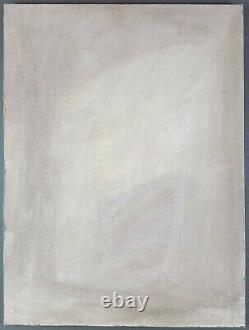 Ancien Tableau Femme au Chapeau Peinture Huile Panneau Antique Oil Painting