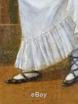 Ancien Tableau Fritz Steinmetz-Noris (1860-1937) Peinture Huile Antique Painting