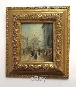 Ancien Tableau, HSB. Paris Place de la Madeleine entourage de Galien Laloue