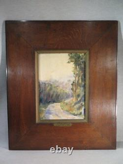 Ancien Tableau Huile Sur Panneau Impressionniste A. Gonyn De Lurieux Bretagne