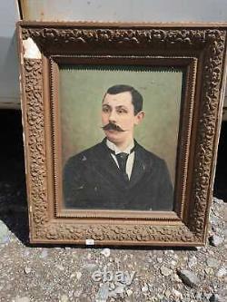 Ancien Tableau, Huile Sur Toile, Xixeme, Portrait D'homme, Xixeme, Napoleon, H Loir