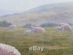 Ancien Tableau James Doubting (1841-1904) Peinture Huile Antique Oil Painting