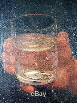 Ancien Tableau Jeune Fille à La Cruche Peinture Huile Antique Oil Painting