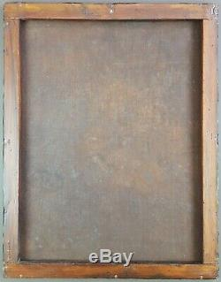 Ancien Tableau L'archange Gabriel Peinture Huile Antique Oil Painting Dipinto