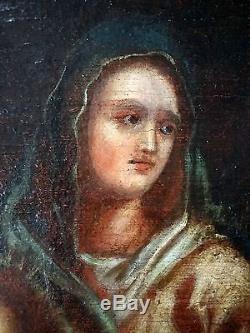 Ancien Tableau La Déploration Du Christ Peinture Huile Antique Oil Painting