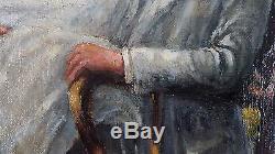Ancien Tableau La Pergola Peinture Huile Antique Oil Painting