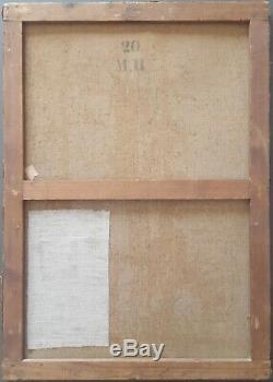 Ancien Tableau Le Christ en Croix Peinture Huile Antique Oil Painting Dipinto