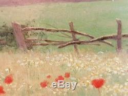 Ancien Tableau Le Puits Peinture Huile Antique Oil Painting Ölgemälde Dipinto