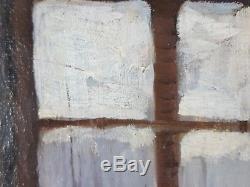 Ancien Tableau Le Verre de Vin Peinture Huile Antique Oil Painting