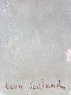 Ancien Tableau Léon-Laurent Galand (1872-1960) Peinture Huile Toile Oil Painting