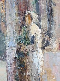 Ancien Tableau Mario d'Odorico (1902-1964) Peinture Huile Antique Oil Painting