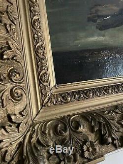 Ancien Tableau Nature Morte retour de chasse Lapin Faisan Huile XIX Ème