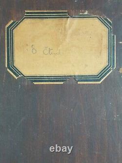 Ancien Tableau Nu Assis Peinture Huile Antique Oil Painting Pittura Gemälde