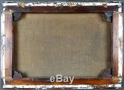 Ancien Tableau Paysage Peinture Huile Antique Oil Painting