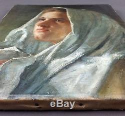 Ancien Tableau Peinture Huile Antique Oil Painting