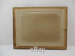 Ancien Tableau Peinture Huile Chat Siamois Signe MB Jean Cadre Dore