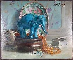Ancien Tableau Peinture Huile Original Antique Oil Painting Vintage