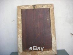 Ancien Tableau Peinture Huile sur panneau bois 19éme signer A. DESRUCHES