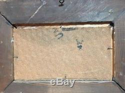 Ancien Tableau Peinture Signée Elie Bernadac Voile Rouge Cote D'azur