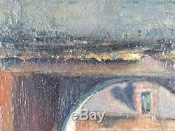 Ancien Tableau Porte du Couvent Peinture Huile Antique Oil Painting Ölgemälde