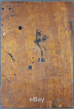 Ancien Tableau Portrait de Dame Peinture Huile Panneau Antique Oil Painting