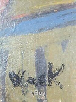 Ancien Tableau Portrait de Femme Peinture Huile Antique Oil Painting Dipinto