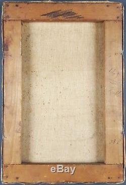 Ancien Tableau Saint-Cyrien Peinture Huile Antique Oil Painting