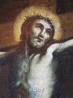 Ancien Tableau Sainte Marie Madeleine Peinture Huile Toile Antique Painting