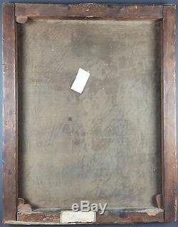 Ancien Tableau Scène Au XVIIIe Siècle Peinture Huile Antique Oil Painting