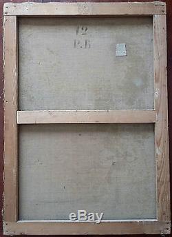 Ancien Tableau Scène Galante Peinture Huile Antique Oil Painting
