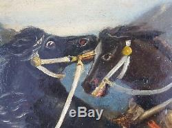 Ancien Tableau Scène Romaine Peinture Huile Antique Oil Painting