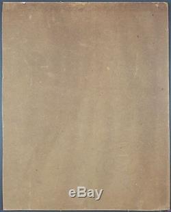 Ancien Tableau Scène d'Intérieur Peinture Huile Antique Oil Painting