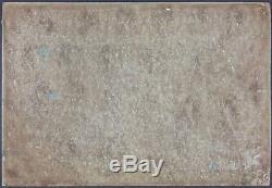 Ancien Tableau Scène de Plage Peinture Huile Antique Oil Painting