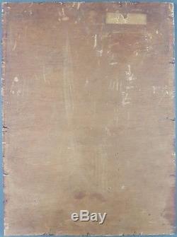 Ancien Tableau Willy van Riet (1882-1927) Peinture Huile Toile Oil Painting