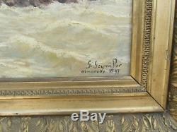 Ancien Tableau Wimereux 1897 Par Geymuller Pas De Calais