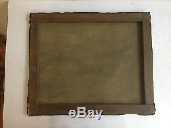 Ancien Tableau / huile sur toile signée WILLIAMS. Marine, bateaux de pêche