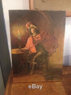 Ancien Tableau peinture sur panneau