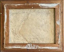 Ancien paire de tableaux de montagne 1950 chamonix mont blanc HST huile peinture