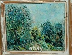 Ancien tableau HST impressionniste signé à identifier