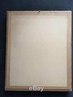 Ancien tableau HST portrait de femme signé suiveur Domergue Art Déco début XXe