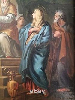 Ancien tableau, HST, religion, circoncision, enfant Jésus, école Italienne, XVIIIe